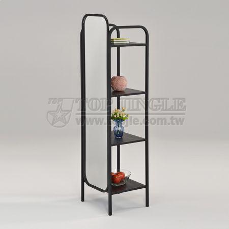 4-Tier Storage Shelf Mirror