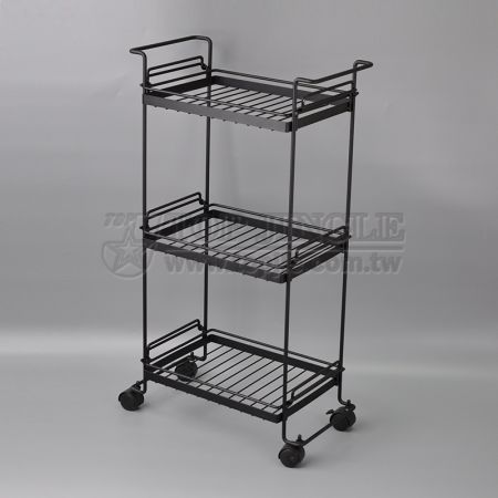 3-Tier Wire Screwless Shelf Trolley