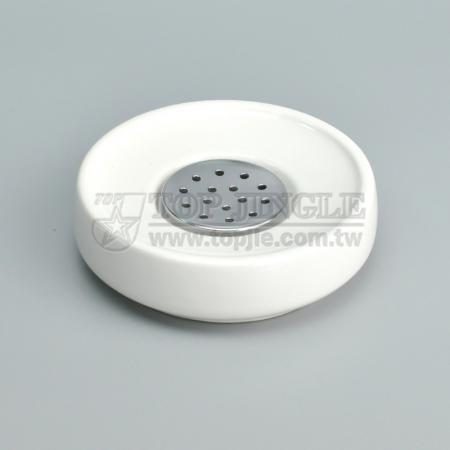 丸型セラミック石鹸皿