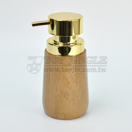 Дозатор для мыла в форме деревянного цилиндра