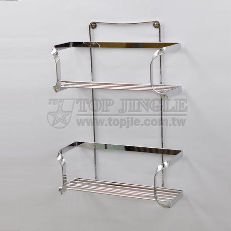 Wall-Mounted 2-Tier Storage Basket