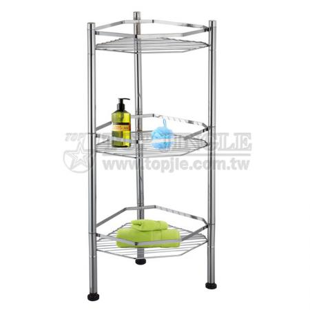 3-Tier Hexagon Shape Wire Storage Rack