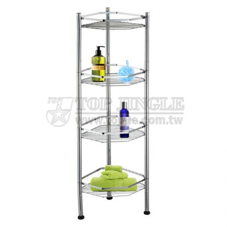 4-Tier Hexagon Shape Wire Storage Rack
