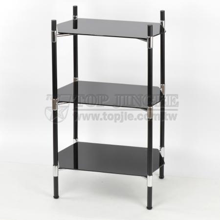 3-Tier Glass Storage Rack