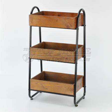 3-х уровневая деревянная полка для хранения