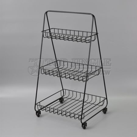 3-tiers Movable Storage Rack