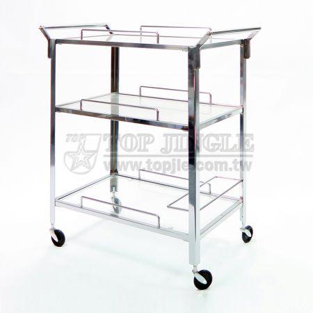 3-Tier Glass Storage Trolley