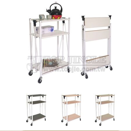 3-Tier Foldable Storage Trolley