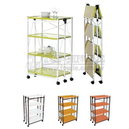 4-Tier Foldable Storage Trolley