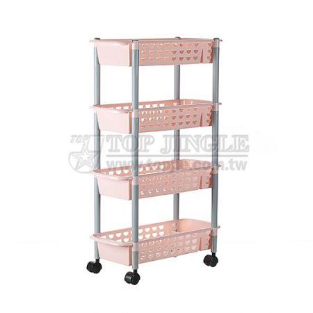 4-Tiers Shelf Trolley