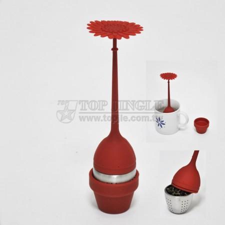 Чайный фильтр с подсолнечным дизайном