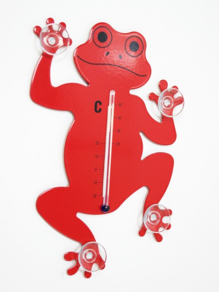 Metal Frog Design Thermometer