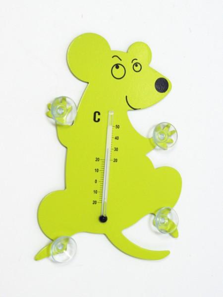 Termometro di design con mouse in metallo