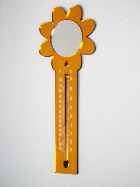 Sunflower Shaped Thermometer Magnet