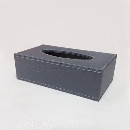 Gray Rectangle Tissue Holder