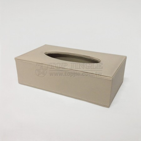 Beige Rectangle Tissue Holder