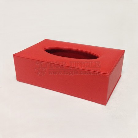 Red Rectangle Tissue Holder