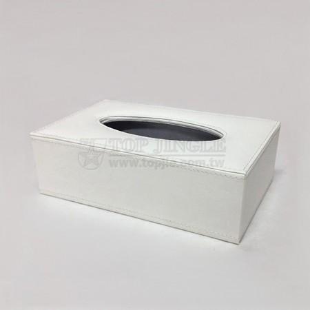 White Rectangle Tissue Holder