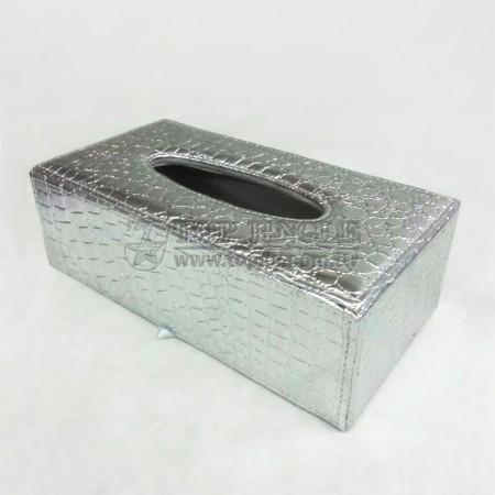 Crocodile Leather Tissue Box