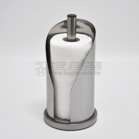 Stainless Paper Towel Holder with One Open Side