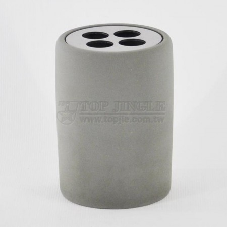 Cylinder Cement Toothbrush Holder