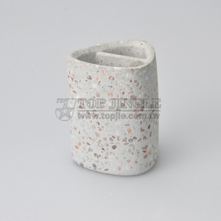 Red Stone Toothbrush Holder