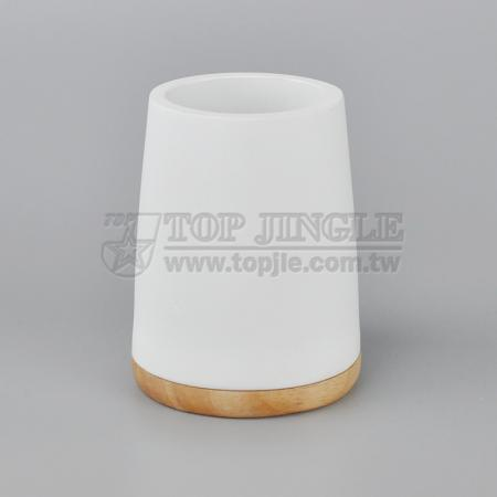 Solid Wood Toothbrush Holder