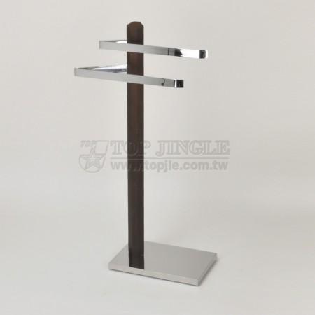 Деревянная металлическая вешалка для полотенец