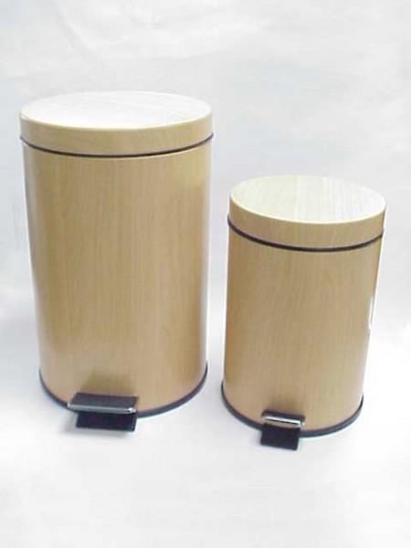 PVC Wood Pedal Bin