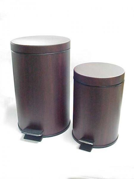 PVC Ahşap Pedallı Çöp Kovası