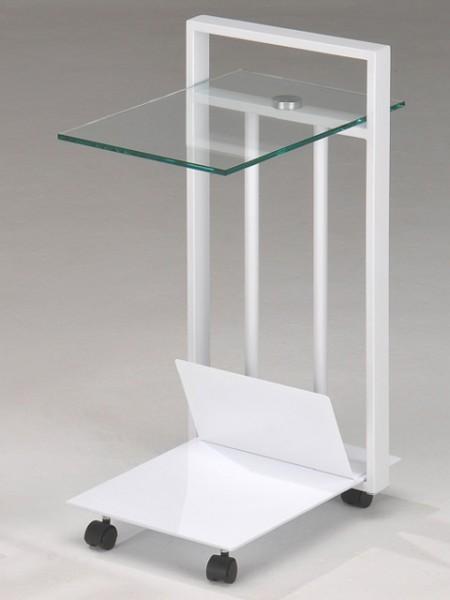 Тележка для стола из закаленного стекла