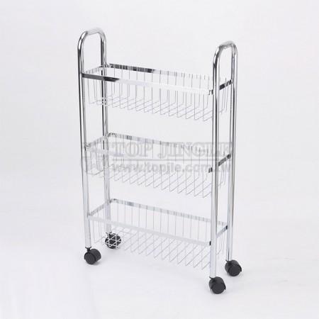 3-tier Wire Basket Trolley