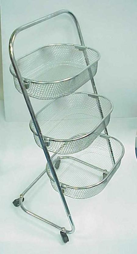 3 Tier Basket Trolley