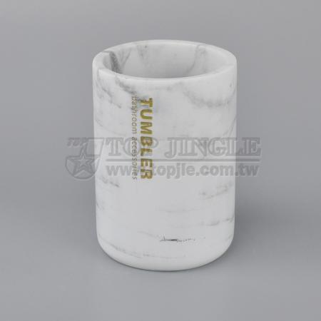 Marble Design Bathroom Tumbler