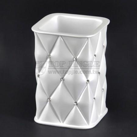 Rhombus White Tumbler