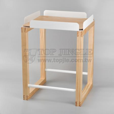 Square Shape Pine Table