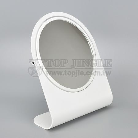 ㄥ Shape Rotating Tabletop Double Side Mirror
