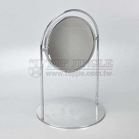 Double Side Round Standing Mirror
