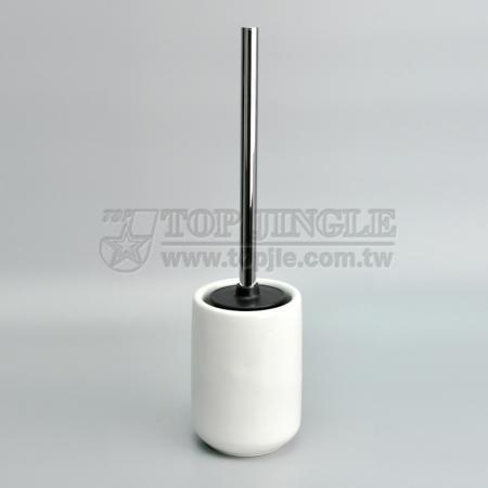 Koni şeklinde seramik tuvalet fırçası tutucu