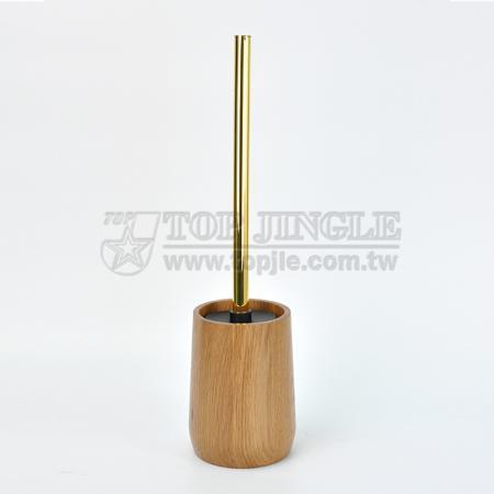 Держатель для туалетной щетки в форме деревянного цилиндра