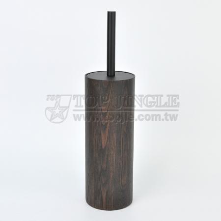 Manchurian Ash Cylinder Shape Toilet Brush Holder