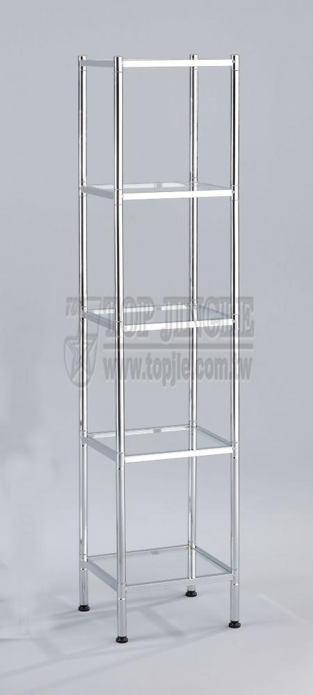 Rectangle Shape Glass Storage Rack