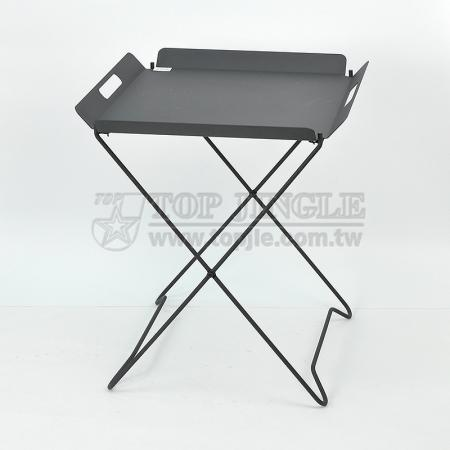 X Shape Metal Tray Table