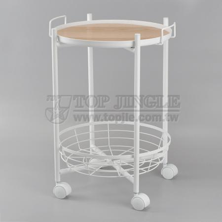2 Tier Movable Trolley Cart