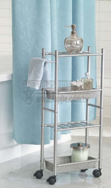 4-Tier Trolley With Basket