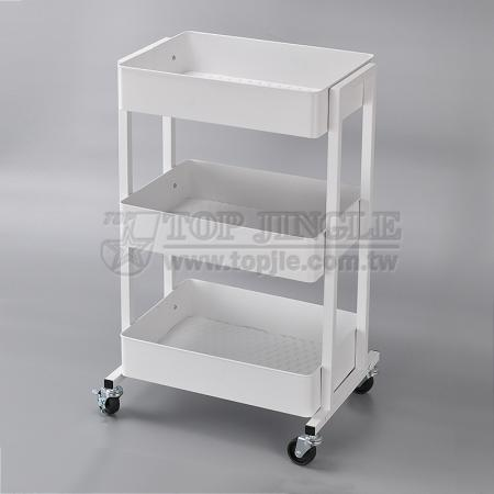 3 Tier Metal Trolley Cart