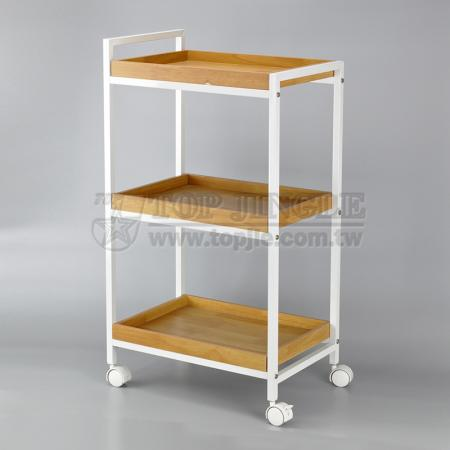 3 Tier Wooden Trolley  Cart