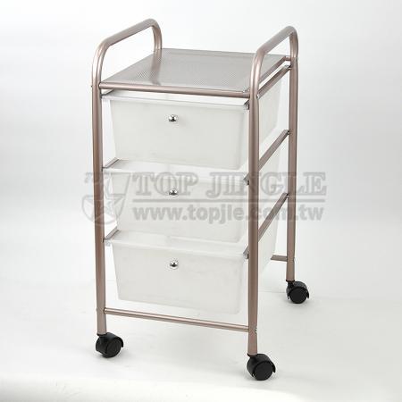 3 Tier Wide Drawer Trolley