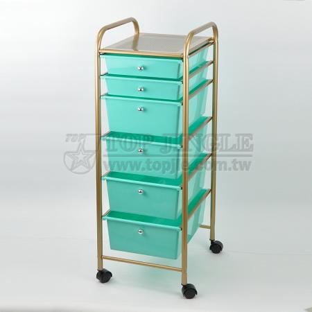 Round Tube Drawers Trolley