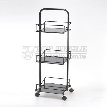 3 Tier Glass Trolley Cart